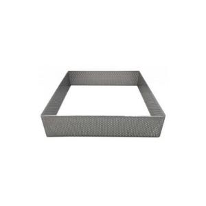 Quadrato Inox Microforato Altezza 3.5 cm