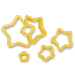 Tagliabiscotti STELLA in plastica - set 5 pz Decora