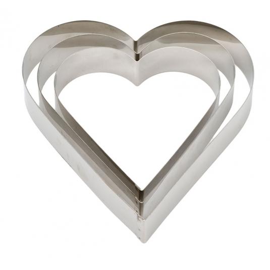 Cornice inox cuore H4,5cm - varie dimensioni Decora