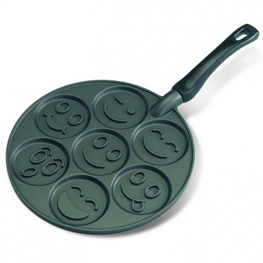 Piastra SMILEY FACE PANCAKE PAN NW01920 7 impronte Nordic Ware