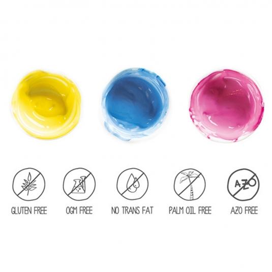 set 3 coloranti naturali in polvere