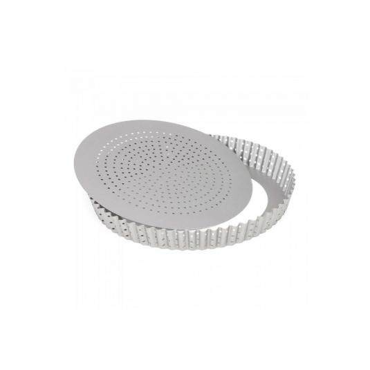 Stampo Quiche Tonda Microforata fondo mobile Silver Top
