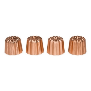 Set 4 stampi canneles in rame
