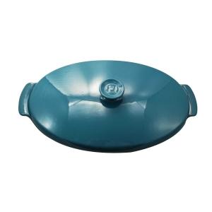 Piatto per cottura al cartoccio in Ceramica Blue Calanque