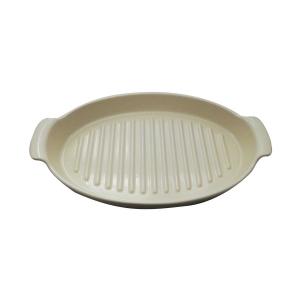Piatto per cottura al cartoccio in Ceramica Bianco Argile