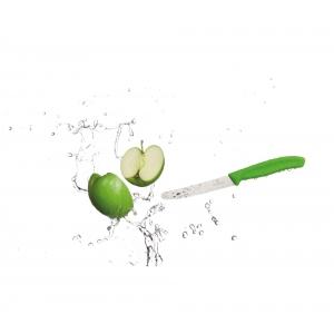 Coltello da Tavola Swiss Classic Lama Ondulata 11 cm Verde