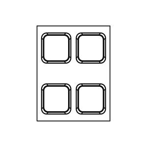 Stampo in silicone microforato FORMASIL Quadro 12x12cm FF4305 4 Impronte | Pavoni