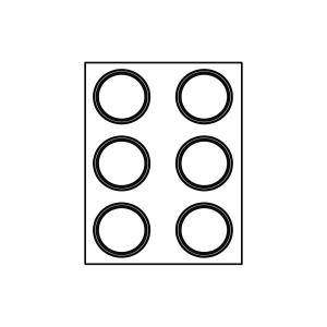 Stampo Formasil Tondo 6 Impronte 6,5 cm