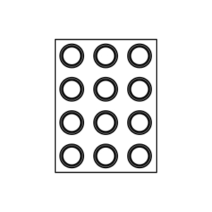 Stampo Formasil Tondo 12 Impronte 6,5 cm