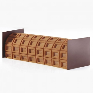 TAPPETINO IN SILICONE TEXTURE TX04 CHOCOLAT