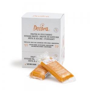 Pasta di zucchero arancione 100 gr Decora