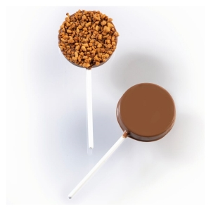 SET 2 STAMPI CIOCCOLATO CHOCO A PORTER LOLLIPOP SMOOTH ROUNDED 20L007 IN PLASTICA TERMOFORMATA