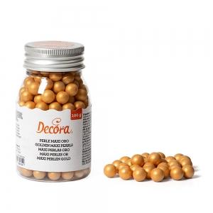 Perle di zucchero maxi oro 100gr Decora
