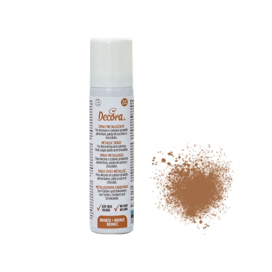Colorante spray metallizzato bronzo 75 ml Decora