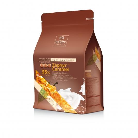 Cioccolato Bianco al Caramello Zephyr Caramel 35% 2,5 Kg