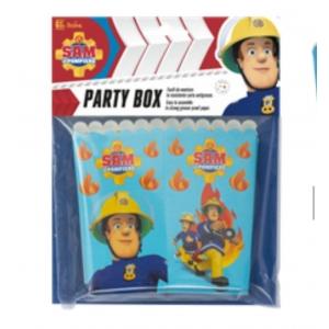 PARTY BOX SAM IL POMPIERE 6 PEZZI