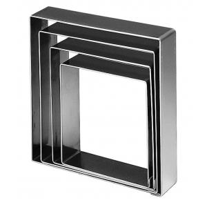 Fascia Inox Quadrata Altezza 3,5 cm