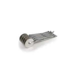 Rotella tagliapasta estensibile in acciaio 5 lame ondulate ROTAPINOX5O Martellato