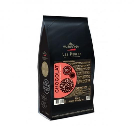 Perle di cioccolato nero 55% Sacco da 4Kg Valrhona