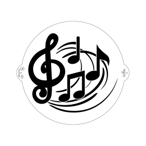 Stencil NOTE MUSICALI in plastica Ø25cm Decora