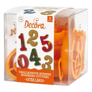 Tagliapasta NUMERI in plastica extra large - set 9 pz Decora