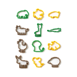 Tagliapasta ANIMALI assortiti in plastica - set 12 pz Decora