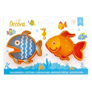 Tagliapasta PESCE in plastica 8,5cm - set 2 pz Decora