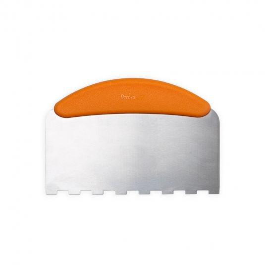 Spatola dentellata in acciaio per decorazioni 22,5 x 11 cm Decora