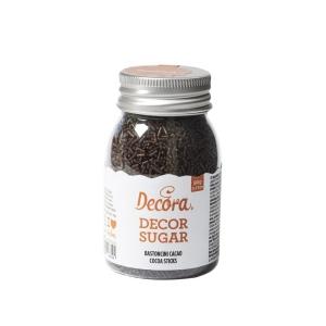 Bastoncini di zucchero cacao 90gr Decora