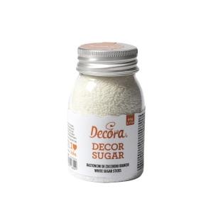 Bastoncini di zucchero bianco 90gr Decora