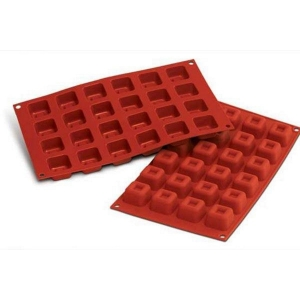 Stampo SF080 SMALL SQUARE SAVARIN in silicone 24 impronte Silikomart