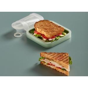 Custodia porta toast quadrata in silicone e PP Lékué