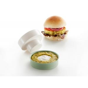 Veggie Burger Kit 2 pz. in silicone verde Lekuè