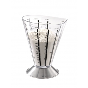 Bicchiere dosatore graduato vetro/inox 0,5 lt SATURAS Gefu