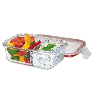 Lunchbox contenitore in vetro/resina S 17,5x13cm Kuchenprofi