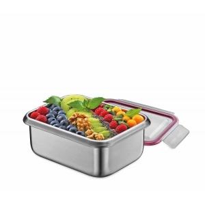 Lunchbox contenitore in acciaio inox/resina M 18,5x14cm Kuchenprofi