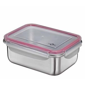 Lunchbox contenitore in acciaio inox/resina L 22x16cm Kuchenprofi