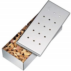Smoker Box BBQ in acciaio inox 22,5x9cm Kuchenprofi