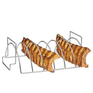 Supporto BBQ 'spare ribs' o arrosti 38x25,5cm inox Kuchenprofi