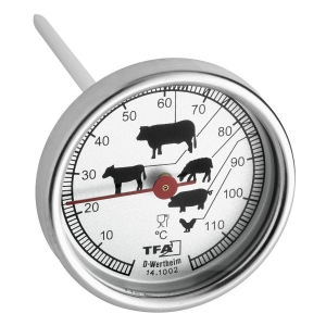 Termometro analogico per arrosti in acciaio inox TFA