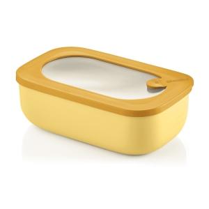 STORE&MORE Contenitore rettangolare ermetico da 900ml giallo Guzzini