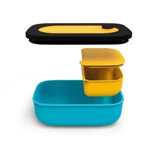 STORE&GO Luchbox con contenitore interno da 900ml giallo/blu Guzzini