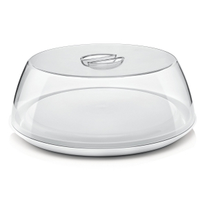 FORMECASA Campana e piatto torta bianco Ø33,5cm Guzzini