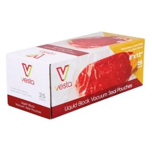 Confezione di 25 sacchetti per sottovuoto con liquidi 20x30cm Vesta