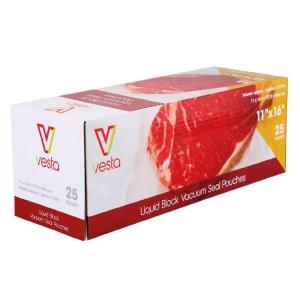 Confezione di 25 sacchetti per sottovuoto con liquidi 28x41cm Vesta