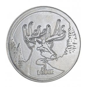 Padella tonda in ghisa con logo Cervo Ø27,13cm L8SKWLDR Lodge