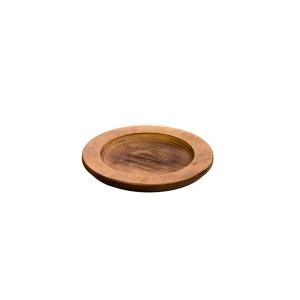 Vassoio sottopentola in legno color noce Ø20,2cm U3RP Lodge