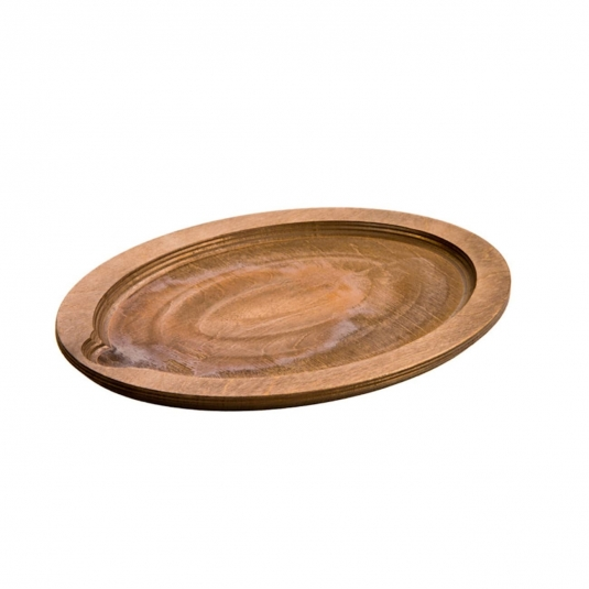 Vassoio sottopentola ovale in legno color noce 29,95x22,7cm UOPB Loe