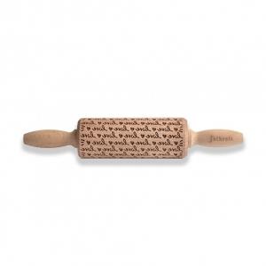 Mattarello Junior in legno decoro LOVE Folkroll