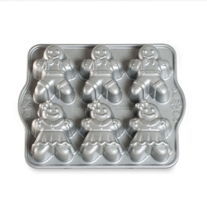Stampo GINGERBREAD KIDS CAKELETTE PAN NW86948 4,5 cups Nordic Ware